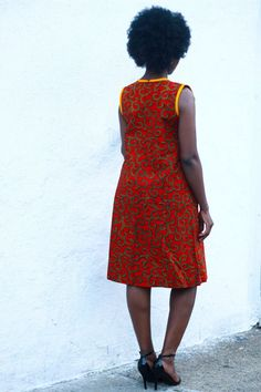 This dress can be worn on it's own as shown in the picture or with a jean jacket or black blazer- your pick! CARE INSTRUCTIONS: Dry Clean Recommended DO NOT BLEACH Press with warm iron on the wrong side only. African Print Dresses, African Fashion Dresses, African Dress, African Prints, African Attire, African Wear, African Style, Shirt Dress Pattern, Dress Patterns