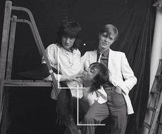 Iggy Pop, David Bowie and Ronnie Wood