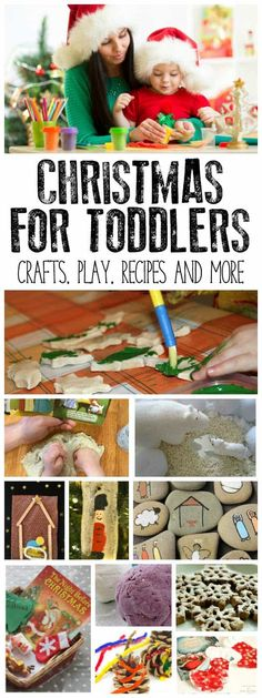 Simple, Easy, Doable and Fun Christmas crafts, recipes, sensory play and other activities for toddlers perfect for the festive season.