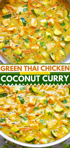 Thai Green Curry Recipe (with Chicken!) - Averie Cooks