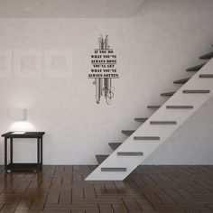 Inspiring Quote – If You Do What You've Always Done You'll Get What You've Always Gotten Vinyl Wall Art Decal #home #decals #stickers #vinyl #DIY #wallart #wallstickers #wallart #anthonyrobbins #quotes #inspirational