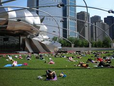 Workout at Millennium Park, Chicago     #Exercise  May this graphic give you the inspiration to exercise! Checkout http://abstracthealth.com for online personal training.
