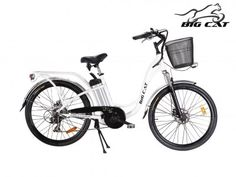 Big Cat ® Long Beach Cruiser (SE). Premium Entry level Electric Bicycle. #350W Rear Hub #Motor, #36V10Ah #LithiumIon #Battery, Front #Cargo #basket, Rear Welded #PannierRack, #20MPH, #Shimano Tourney 7Speed, Front & Rear #LED #lights, Aluminum #Fenders. #bigcat #ebike #electricbike #ebykes #longbeach #beach #beachcruiser #bicycle #bicicleta. http://www.bigcatelectric.bike