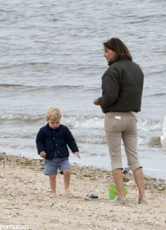 Exclusive Pictures: Prince George Celebrated His Birthday at the Beach!: Prince George's birthday celebrations included the beach!