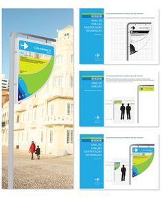 Signs and Wayfinding Design by Ricardo Saramago, via Behance