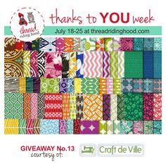 Thanks to YOU Week Giveaway No.13 is from @craftdeville - Visit www.threadridinghood.com to enter for your chance to win!