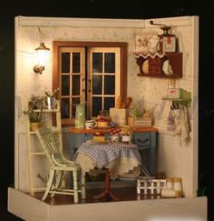 This is a kit. Dollhouse Minature DIY Hosue Model 7 with furniture, accessories, lighting