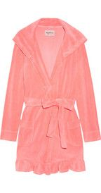 Juicy CoutureCotton-Blend Velour Hooded Robe