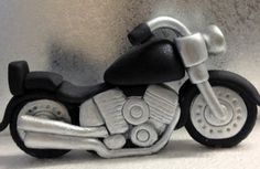 Fondant Motor Bike Topper/ Bike/ Motor Cycle by LittleOrchidStudio