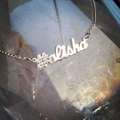 Custom sterling silver hashtag necklace with diamonds! http://survivalofthehippest.com/order.html