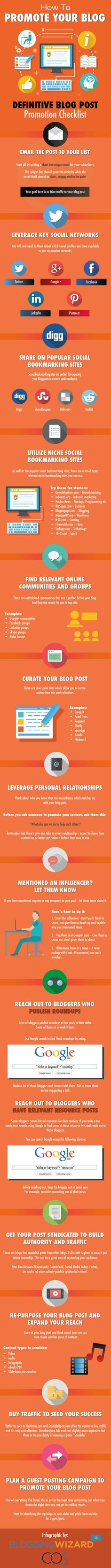 How to promote your blog #infographic
