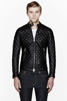 quilted + leathered, perfect leather jacket for the fall // menswear style + fashion