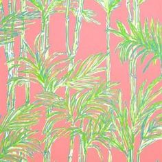 By the Double Roll - Lee Jofa Big Bam Hotty Pink Wall Covering Coastal Wallpaper, Tree Wallpaper, Fabric Wallpaper, Wallpaper Samples, Wallpaper Ideas, Lee Jofa, Fabric Houses, Pink And Green, Lilly Pulitzer