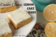Cream Cheese Lemon Cake Bars...the easy way. Must try these!
