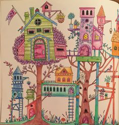 Enchanted forest colouring book Johanna basford