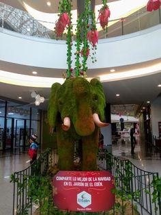 Decoración Navideña del Centro comercial El Edén en Bogotá Dinosaur Stuffed Animal, Toys, Shopping Mall, Gardens, Colombia, Xmas, Gaming, Games
