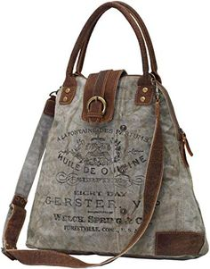 Women's Bags, Top-Handle Bags,Myra Bags Gerster Upcycled Canvas Shoulder Bag - Women's style: Patterns of sustainability Burberry Handbags, Prada Handbags, Fashion Handbags, Purses And Handbags, Fashion Bags, Style Fashion, Luxury Handbags, Cheap Handbags, 50 Fashion