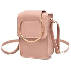 Item Type:Crossbody Bag Material:PU Leather Weight:150g Length:14cm(5.51'' Height:19cm(7.48'') Width:6cm(2.36'') Pattern:Solid Closure:Hasp Inner Pocket:Main Pocket Color:Brwon,Pink,Black,Gray Package Included: 1 * Bag
