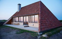 Beautifully renovated Norwegian cottage combines old and new under one pitched roof