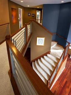 Modern Interior Design, by David Lyon. Custom Stair Case.  http://www.designforchange.tv or  http://www.facebook.com/groups/234742429920610/