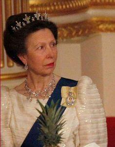 Princess Anne, festoon tiara, Banquet at Buckingham Palace, 2000s