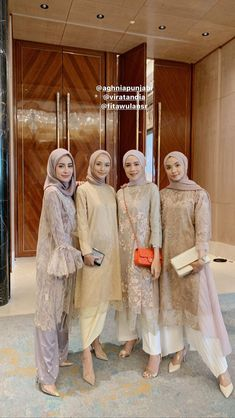 bridesmaid dresses hijab ~ bridesmaid dresses - bridesmaid dresses mismatched - bridesmaid dresses long - bridesmaid dresses hijab - bridesmaid dresses short - bridesmaid dresses blue - bridesmaid dresses with sleeves - bridesmaid dresses fall Kebaya Muslim, Kebaya Modern Hijab, Dress Brokat Modern, Model Kebaya Modern, Kebaya Hijab, Kebaya Dress, Modern Hijab Fashion, Hijab Fashion Inspiration, Look Fashion