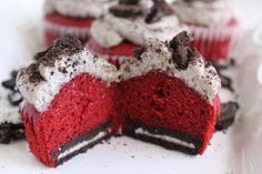 Oreo Cream Cheese Red Velvet Cupcakes Recipe