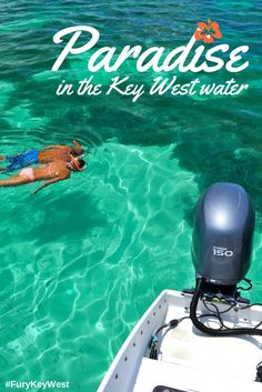 Snorkeling in Key West's crystal clear waters with Fury Water Adventures #keywest #snorkeling #furykeywest