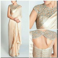 Saree Designer Sari Blouse Indowestern Cocktail Partywear Indian Bridal Elegant in Clothing, Shoes & Accessories, Cultural & Ethnic Clothing, India & Pakistan Blouse Back Neck Designs, Sari Blouse Designs, Blouse Patterns, Modern Blouse Designs, Saree Jacket Designs, Choli Designs, Indian Blouse, Indian Sarees, Saree Styles