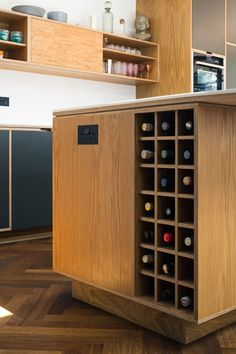Bespoke Plywood Kitchen Island Wine Rack by Uncommon Projects Thrift Store Furniture, Refurbished Furniture, Cabinet Furniture, Furniture Layout, Plywood Furniture, Repurposed Furniture, Pallet Furniture, Furniture Makeover, Furniture Design