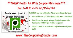 ***HERE YOU GO*** Please Use the SHARE button below the Picture and then leave a comment and let us know you shared it + it keeps it bumped in the GROUP! THANKS! Click the Picture below to check out the NEW Publix Ad with Coupon Matchups for 6/9 to 6/15 (6/8-6/14) ► http://www.thecouponingcouple.com/publix-ad-with-coupon-matchups-for-6-9-to-6-15-16/  Here is the Publix Ad with Coupon Matchups for 6-9 to 6-15-16 (6/8-6/14 for those whose ad begins on Wednesdays). Not ON