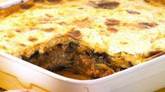 Rezept: Auberginen-Hackfleisch-Auflauf (Moussaka) Zucchini Aubergine, Kitchen Queen, Eat Smarter, Lasagna, Macaroni And Cheese, Low Carb, Cooking, Ethnic Recipes, Food