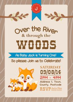 1st Birthday Party Invitation designed by me at Nic's Designs.