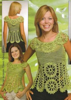 blusas tejidas en crochet con piñas - Buscar con Google