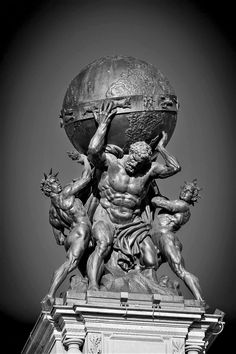 Ganymedes Rocks Gustav Karl Martin Herold – – Atlas, carrying the globe, supported by steam and electricity, c. Statue Tattoo, Greek Mythology Tattoos, Greek And Roman Mythology, Ancient Greek Sculpture, Greek Statues, Roman Sculpture, Art Sculpture, Atlas Sculpture, Bernini Sculpture