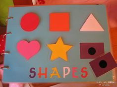 busy book with velco, this was the shapes page but other pages not math persay