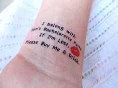 15 Bachelorette Party Sorority Party Temporary Tattoo by EARinkFun