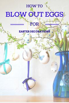Hodge Podge / How to blow-out eggs for Easter decorations