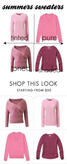 """""""summers sweaters"""" by laralabiche ❤ liked on Polyvore featuring Lands' End, Uniqlo and Hollister Co."""