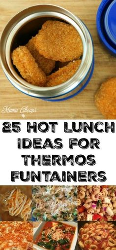 25 Hot Lunch Ideas for Thermos Funtainers. 25 Hot Lunch Ideas for Thermos Funtainers. Kick your school lunch game up a notch by sending a hot lunch! Here are 25 hot lunch ideas for Thermos Funtainers that will keep lunch warm and tasty. Cold Lunches, Toddler Lunches, Lunch Snacks, Clean Eating Snacks, Thermos Lunch Ideas, Healthy Kid Lunches, Cheap School Lunches, Toddler Lunch Box, Kid Snacks