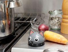Kikkerland Design Inc » Products » Kitchen Timer Cat want! <3