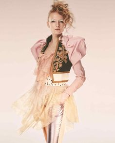 The 1980s revival continues with a spin on ruffles juxtaposed with leather, patent, glitter and studs. Styling by Damian Foxe. Photography by Alex Bramall