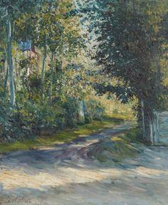 Gustave Caillebotte (1848-1894), L'Allée de la villa des Fleurs, Trouville, 1882, huile sur toile, 65 x 54 cm.