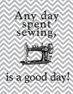 true for me,when i'm sewing on a machine I feel great no one in my ear telling me to go faster.