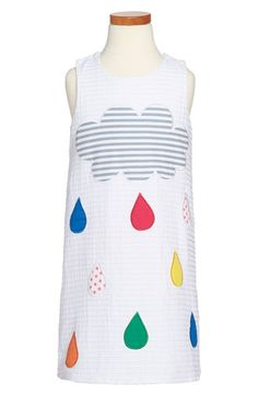Halabaloo 'Happy Raindrops' Cotton Dress (Toddler Girls, Little Girls & Big Girls) available at #Nordstrom