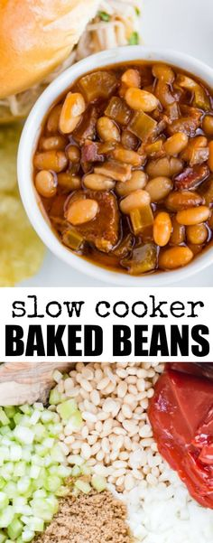 Slow Cooker Baked Beanstaste a million times better than what you get out of a can, and you can easily make them in your crock pot OR bean pot! via @culinaryhill