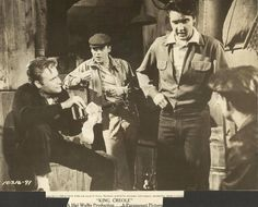 "ELVIS PRESLEY & VIC MORROW in ""King Creole"" Original Vintage Photo 1958"