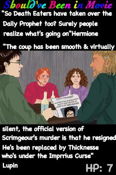 Harry Potter and the Deathly Hallows Should've Been in Movie Lupin  Grimmauld place Harry Ron Hermione