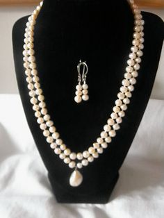 Genuine Natural Freshwater Peach Two Strand Pearl by nickiehyatt