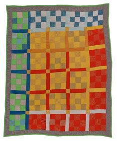 Amish Quilts, Easy Quilts, Stairway Art, Gees Bend Quilts, Deep Foundation, Miniature Quilts, Colorful Quilts, Nine Patch, Drupal